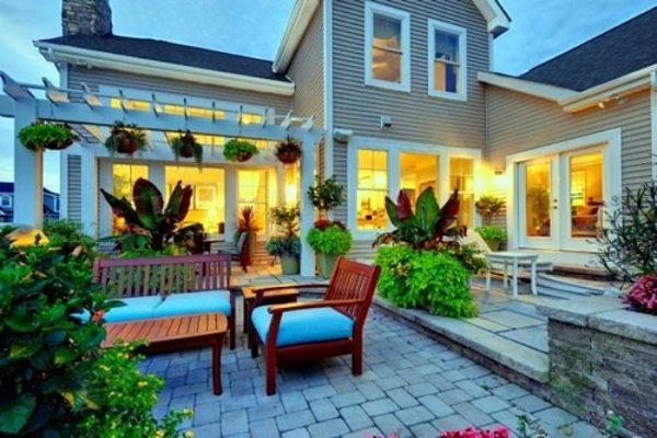 Thiết kế sân vườn theo phong cách phương tây của Cây xanh VN